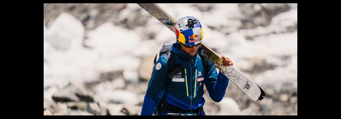 Andrzej Bargiel podopieczny enel-sport zjechał na nartach z K2