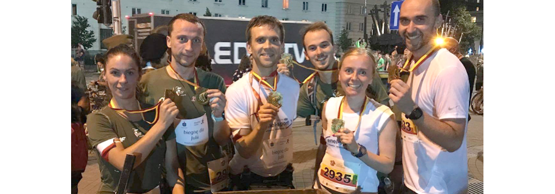 Enel-Sport Runners Team na Biegu Powstania Warszawskiego
